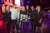 Bobby Bones Earns Plaque For 'Funny & Alone Stand Up Comedy Tour'