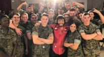 Chris Janson Performs For U.S. Military Members
