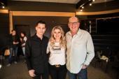 Devin Dawson, John Esposito, And Kelly Clarkson Walk Into Warner Nashville...