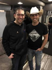Dustin Lynch Catches Up With KUZZ/Bakersfield Friends
