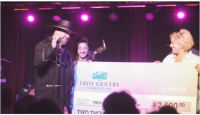 Eddie Montgomery Presents Check For The Troy Gentry Foundation