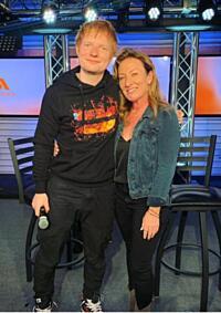 Ed Sheeran Visits With WNEW