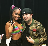 Saweetie and KUBE/Seattle PD Eric Rosado